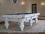 Бильярдный стол для пула КОРОЛЬ АРТУР 7 футов Ардезия 2.0 м х 1.0 м из натурального дерева, фото 3
