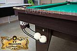 Бильярдный стол для пула ОСКАР 10 футов ЛДСП 2.8 м х 1.4 м из натурального дерева, фото 4