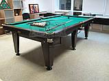 Більярдний стіл для пулу ОСКАР 6 футів ЛДСП 1.8 м х 0.9 м з натурального дерева, фото 7