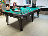 Більярдний стіл для пулу ОСКАР 8 футів ЛДСП 2.2 м х 1.1 м з натурального дерева, фото 7