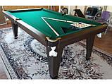 Більярдний стіл для пулу ОСКАР 8 футів ЛДСП 2.2 м х 1.1 м з натурального дерева, фото 9