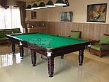 Бильярдный стол для пула СИРИУС 7 футов Ардезия 2.0 м х 1.0 м из натурального дерева, фото 3