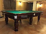 Більярдний стіл для пулу ФЕРЗЬ 8 футів Ардезія* 2.2 м х 1.1 м з натурального дерева, фото 4