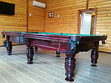 Більярдний стіл для пулу ФЕРЗЬ 8 футів Ардезія* 2.2 м х 1.1 м з натурального дерева, фото 8