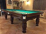 Бильярдный стол для пула ФЕРЗЬ 9 футов Ардезия 2.6 м х 1.3 м из натурального дерева, фото 2