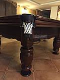 Бильярдный стол для пула ФЕРЗЬ 9 футов Ардезия 2.6 м х 1.3 м из натурального дерева, фото 9
