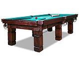 Більярдний стіл для гри в рускую піраміду АСКОЛЬД 9 футів Ардезія 2.6 м х 1.3 м, фото 2