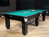 Більярдний стіл для гри в рускую піраміду АСКОЛЬД 9 футів Ардезія 2.6 м х 1.3 м, фото 4