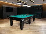 Більярдний стіл для гри в рускую піраміду АСКОЛЬД 9 футів Ардезія 2.6 м х 1.3 м, фото 5
