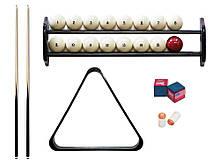 Комплект для гри в більярд російську піраміду 9,10,11,12 футів Стандарт з полицею, кулями і трикутником