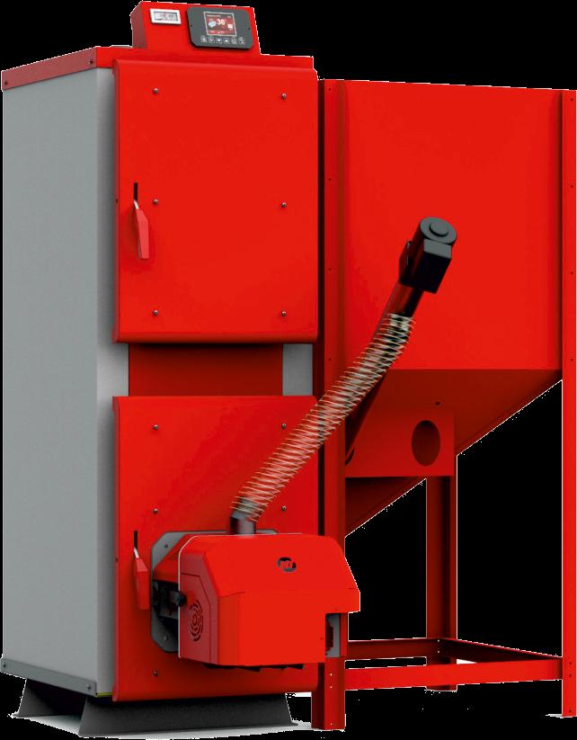 Пеллетный котел Heiztechnik Hit Pellet Duo 20 кВт автоподача топлива и погодозависимой автоматикой