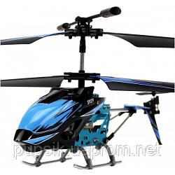 Вертолет 3-к микро и/к WL Toys S929 с автопилотом (синий)