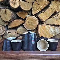 Набор посуды глиняный для чайной церемонии Чёрный