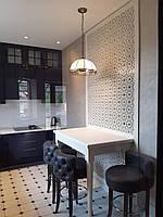 Різьблене Панно декоративне на стіну з дзеркалом, фото 1