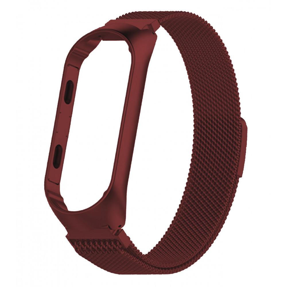 Ремешок для фитнес браслета Xiaomi Mi Band 3 и 4, Milanese design bracelet, Red