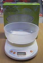 Ваги кухонні електронні з чашею до 5 кг (білі)