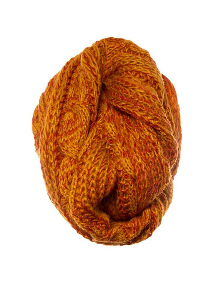 Красивый оригинальный теплый зимний вязаный шарфик Польша.