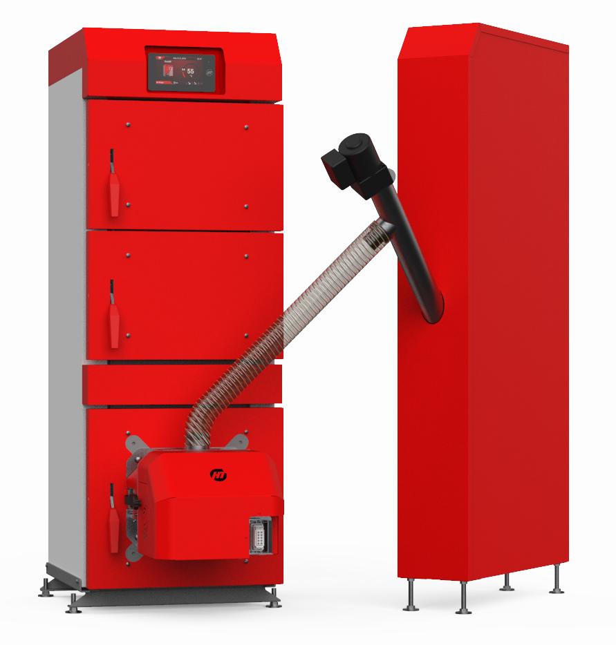 Пеллетный котел Heiztechnik HT DasPell 12 кВт с автоподачей топлива и погодозависимой автоматикой
