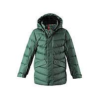 Зимняя куртка, пуховик для мальчика Reima Janne, размер 122