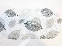 Коврик в ванную банный антискользящий резиновый 35*69 см Белый