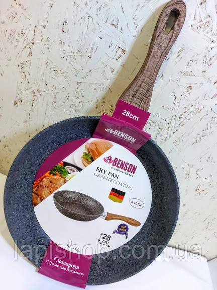 Сковорода Benson BN-536 с гранитным покрытием 28 см