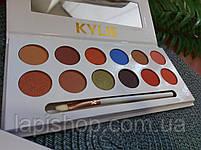 Тени Kylie 12 цветов + кисточка Палетка теней, фото 5