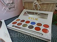 Тени Kylie 12 цветов + кисточка Палетка теней, фото 7