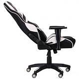 Геймерское кресло VR Racer Expert Virtuoso черный/белый (бесплатная адресная доставка), фото 5