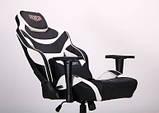 Геймерское кресло VR Racer Expert Virtuoso черный/белый (бесплатная адресная доставка), фото 6