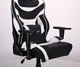 Геймерское кресло VR Racer Expert Virtuoso черный/белый (бесплатная адресная доставка), фото 7