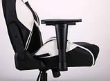 Геймерское кресло VR Racer Expert Virtuoso черный/белый (бесплатная адресная доставка), фото 8