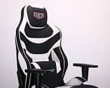 Геймерское кресло VR Racer Expert Virtuoso черный/белый (бесплатная адресная доставка), фото 9