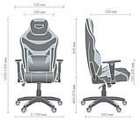 Геймерское кресло VR Racer Expert Virtuoso черный/белый (бесплатная адресная доставка), фото 10