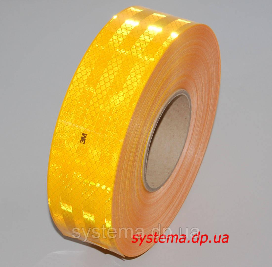 3M™ SL983-71 Diamond Grade™ - Маркировочная световозвращающая лента для жесткого кузова 55 мм х 50 м, желтая