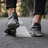 🔥 Кроссовки женские повседневные для спорта зала тренировок Adidas Ozweego адидас озвиго серые кожаные, фото 6