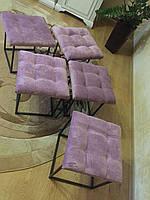 Якісна тканина Пуф трансформер 5 в 1 Смарт мебель Лофт мебель Куб-табурет Кензо Квадратний Зроблено в Україні