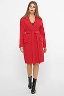 Красное женское демисезонное пальто   с поясом  MS-269-К, фото 1