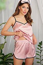 Розовые женские пижамные шорты Шелби