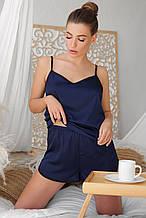 Синие женские пижамные шорты Шелби