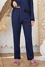 Синие  женские пижамные штаны Долорес