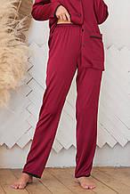 GLEM женские пижамные штаны бордового цвета Зоряна L