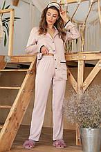 GLEM женские пижамные штаны молочного цвета Зоряна L