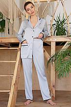 Женские пижамные штаны серого цвета Зоряна