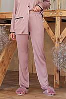 Штаны женские пижамные лилового цвета Зоряна, фото 1