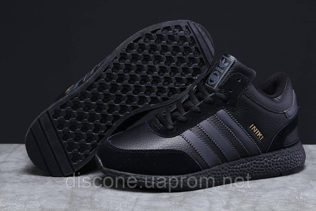 Зимние мужские кроссовки 31285 ► Adidas Iniki, черные ✅Скидка % [ нет в наличии ] ► (45-28,5см)