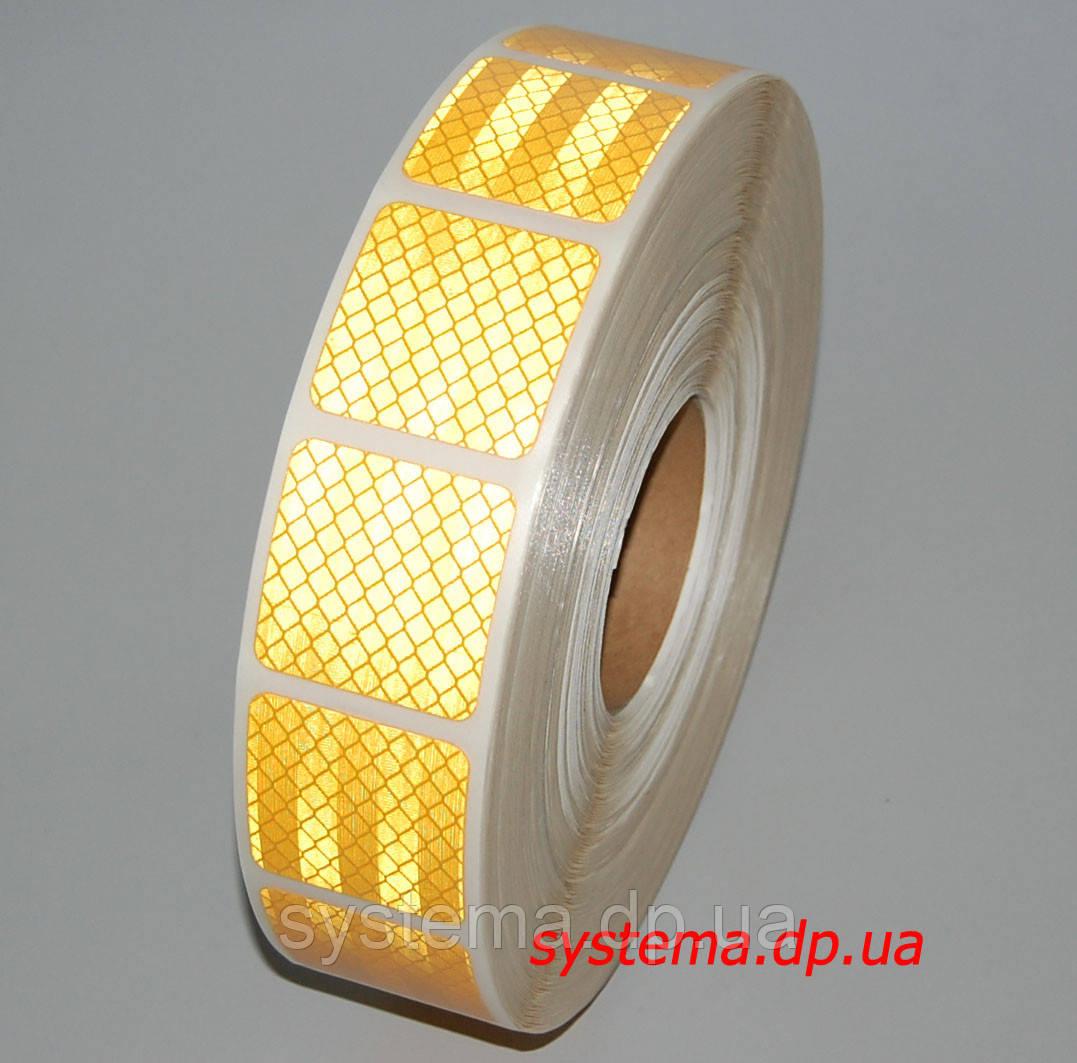 3M™ SL997-71S Diamond Grade™ - Маркировочная световозвращающая сегментированная лента 52 мм х 50 м, желтая
