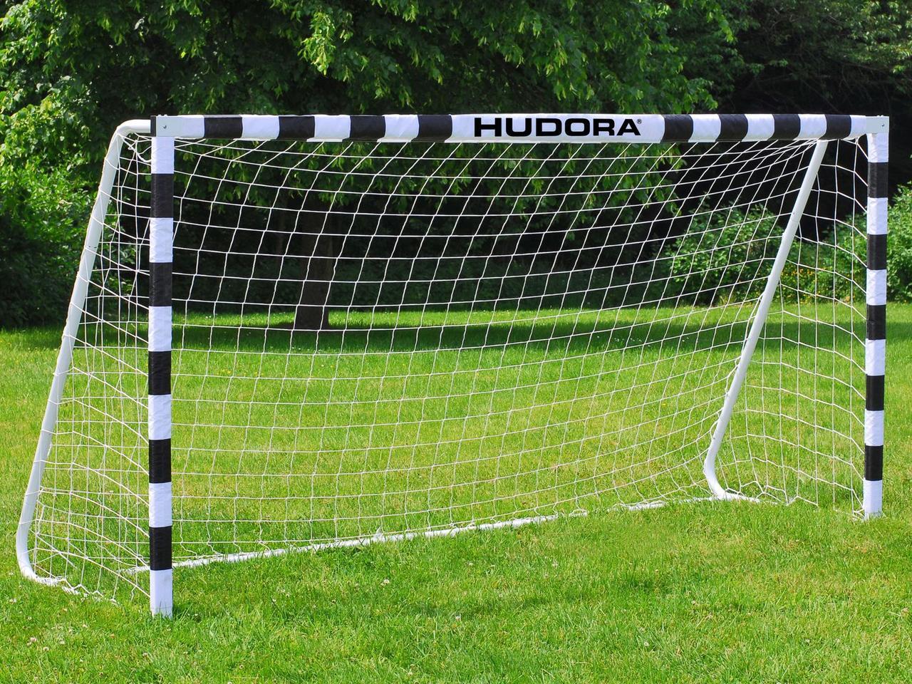 Футбольні ворота Hudora 300x200x90 см + сітка Німеччина