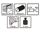 Футбольні ворота Hudora 300x200x90 см + сітка Німеччина, фото 6