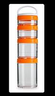 Контейнер для спортивного питания GoStak Starter 4 Pak 400 мл Оранжевый