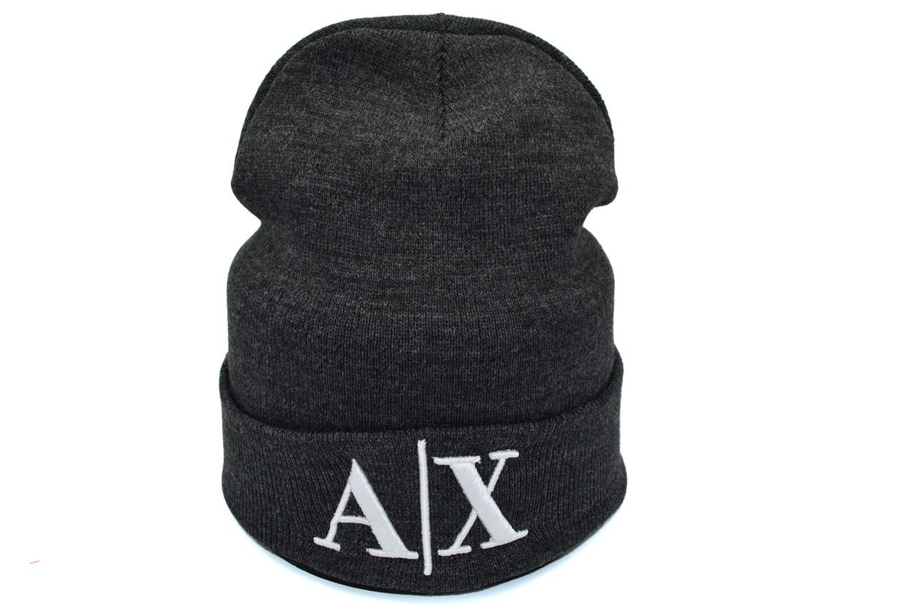 Шапка Hip Hop Shop Armani Exchange 55-59 см темно-серая (H-08118-223)
